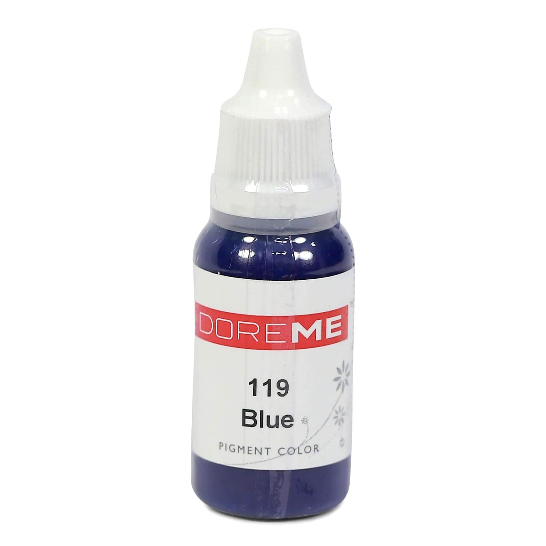 Permanent Makeup pigments Doreme Micropigmentation Eyebrow, Eyeliner, Lip Colours 119 Blue (c) - Beautiful Ink UK trade and wholesale supplier