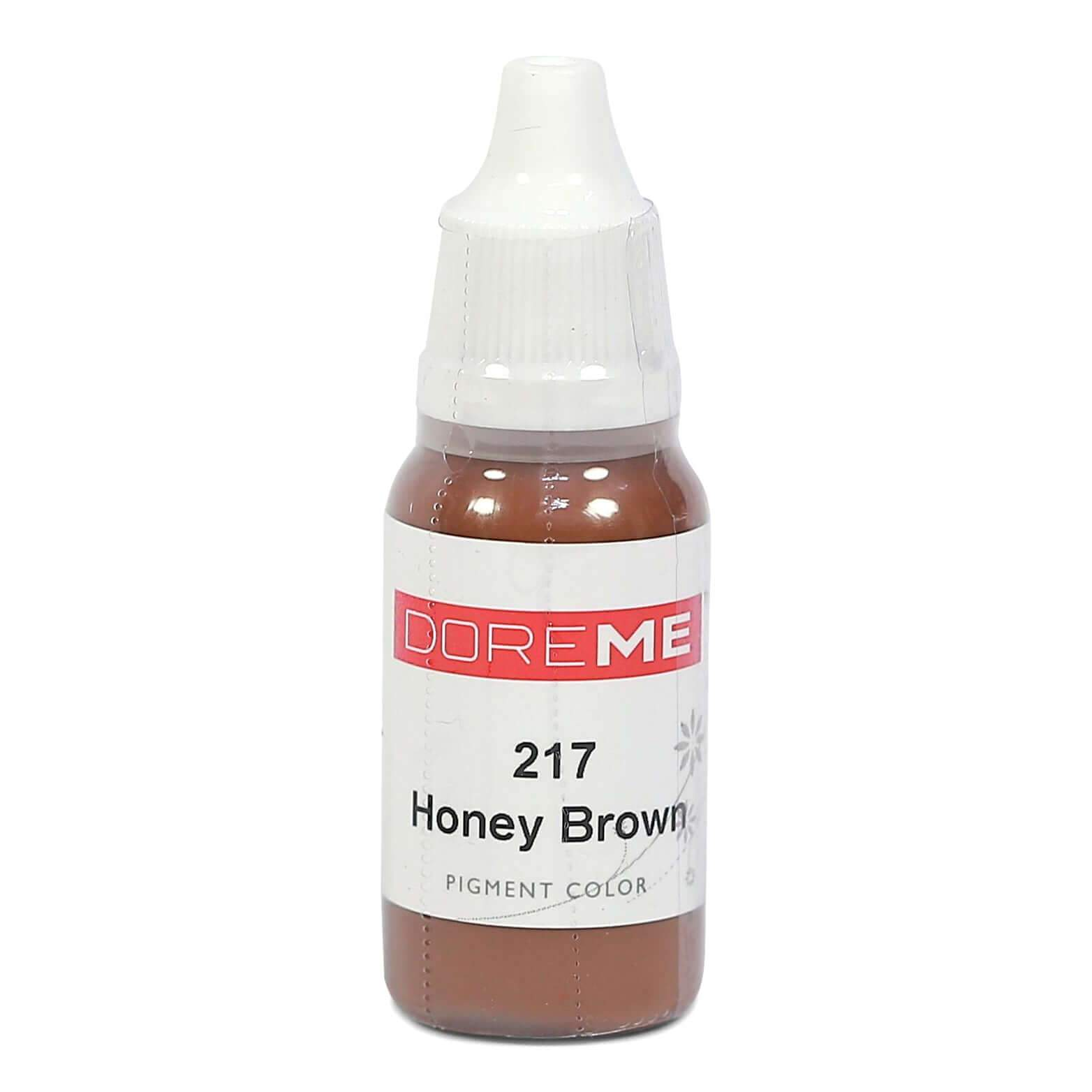 Permanent Makeup pigments Doreme Micropigmentation Eyebrow, Eyeliner, Lip Colours 217 Honey Brown (n) - Beautiful Ink UK trade and wholesale supplier