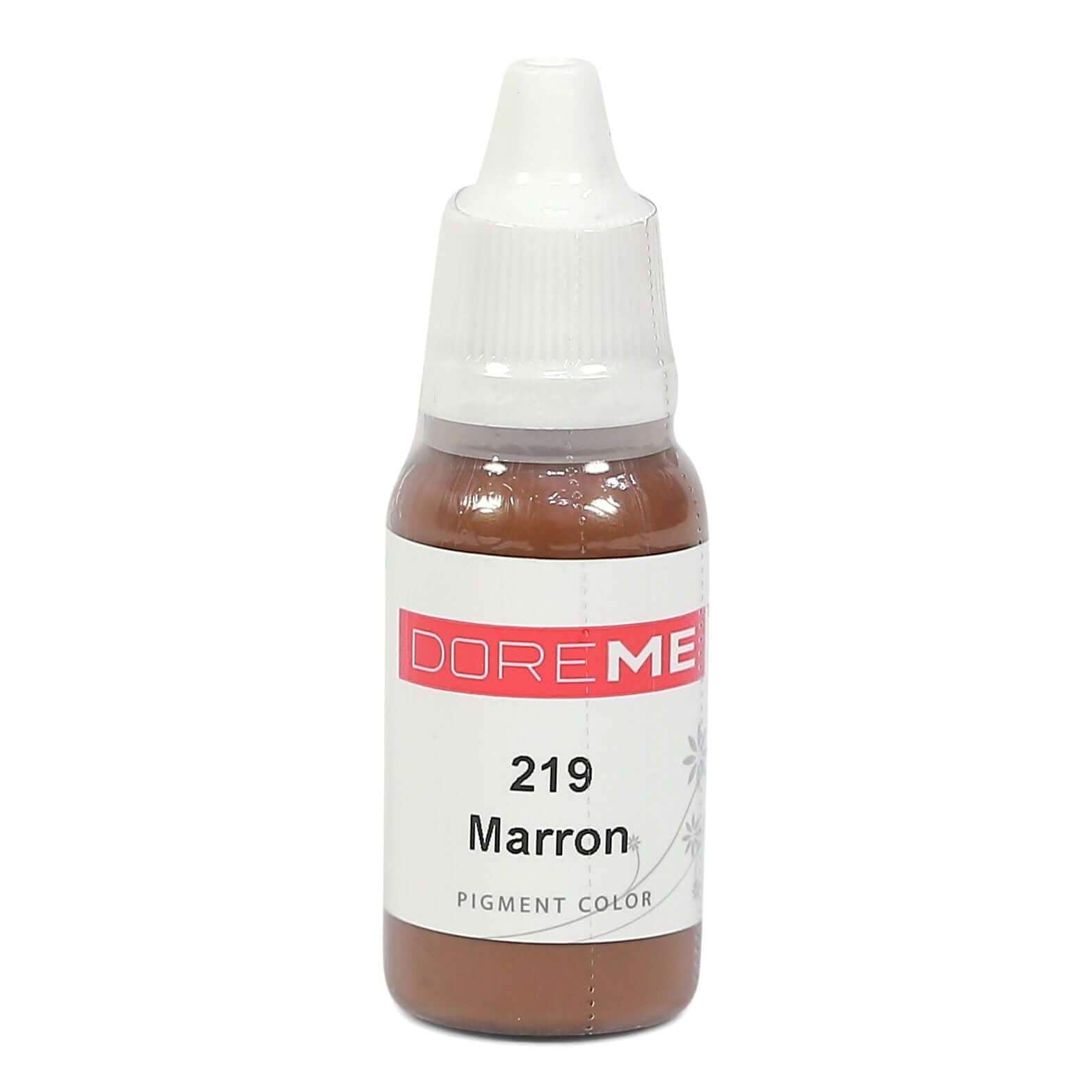 Permanent Makeup pigments Doreme Micropigmentation Eyebrow, Eyeliner, Lip Colours 219 Marron (c) - Beautiful Ink UK trade and wholesale supplier