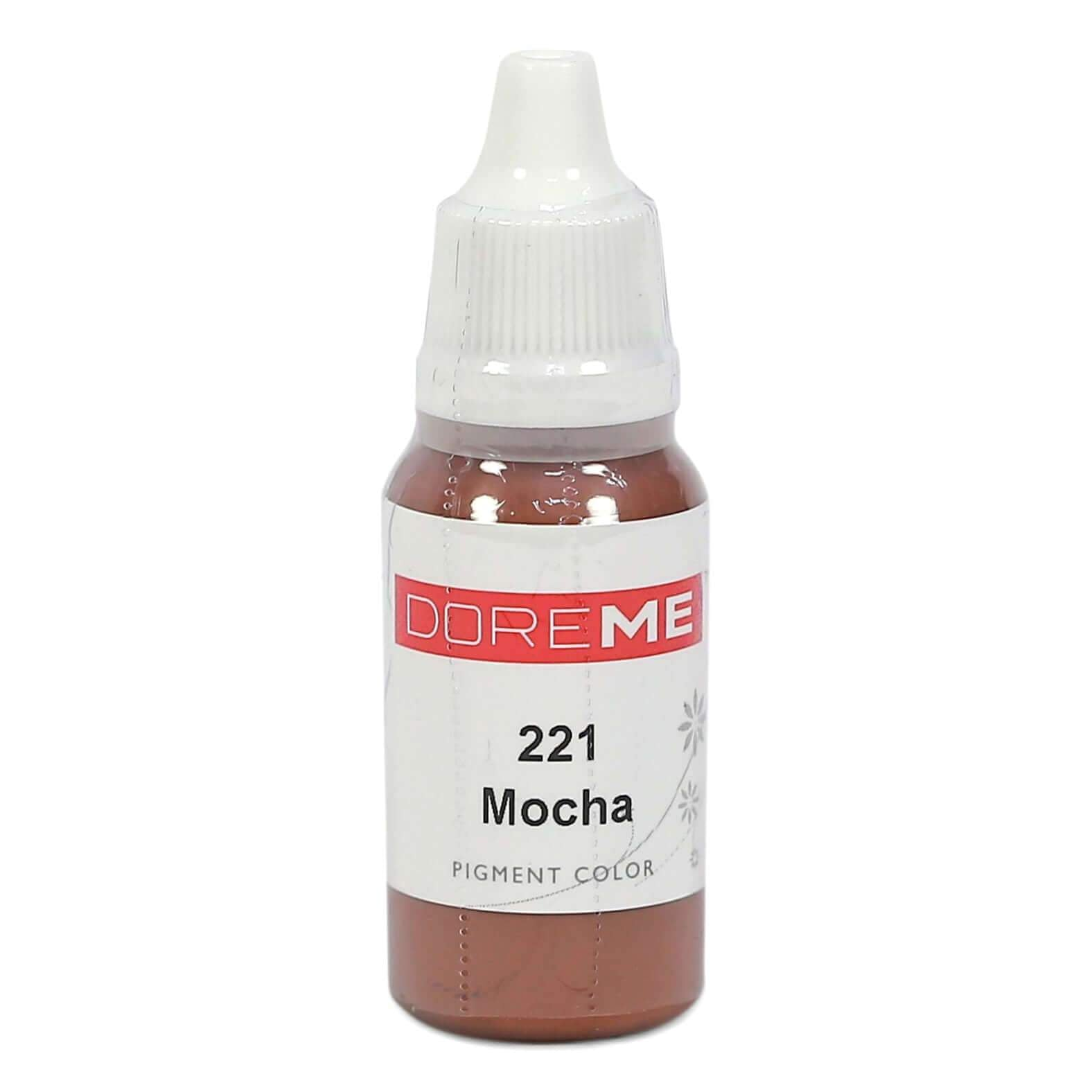Permanent Makeup pigments Doreme Micropigmentation Eyebrow, Eyeliner, Lip Colours 221 Mocha (c) - Beautiful Ink UK trade and wholesale supplier