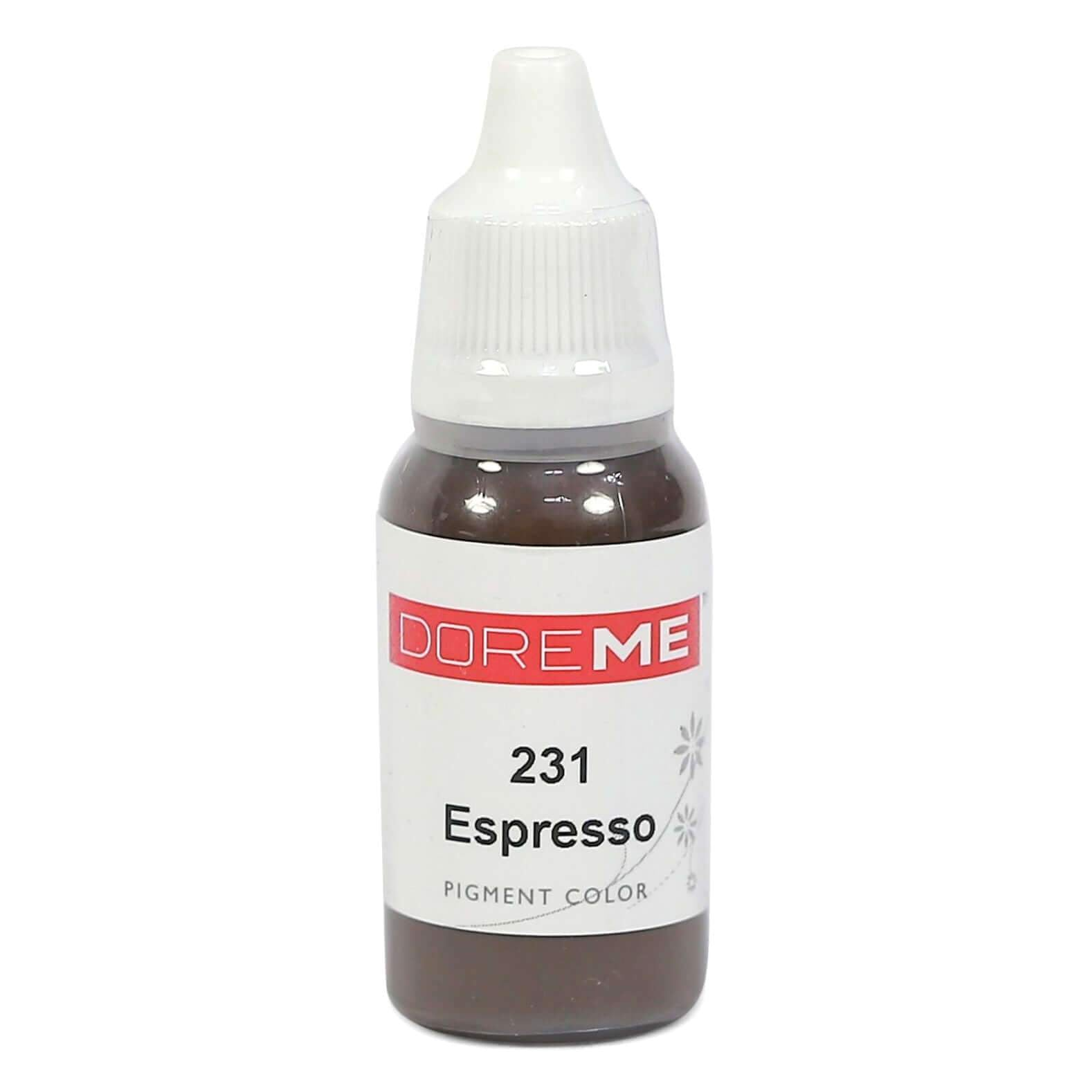 Permanent Makeup pigments Doreme Micropigmentation Eyebrow, Eyeliner, Lip Colours 231 Espresso (c) - Beautiful Ink UK trade and wholesale supplier