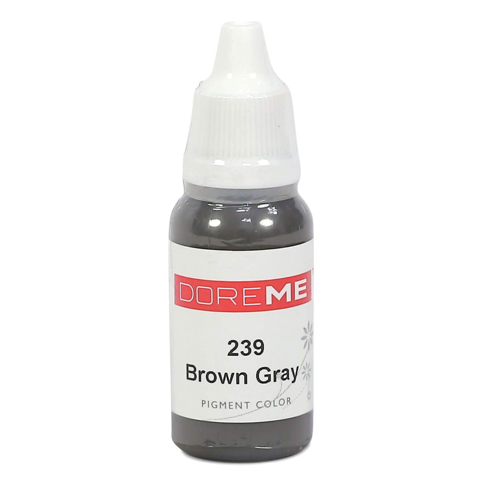 Permanent Makeup pigments Doreme Micropigmentation Eyebrow, Eyeliner, Lip Colours 239 Brown Grey (c) - Beautiful Ink UK trade and wholesale supplier