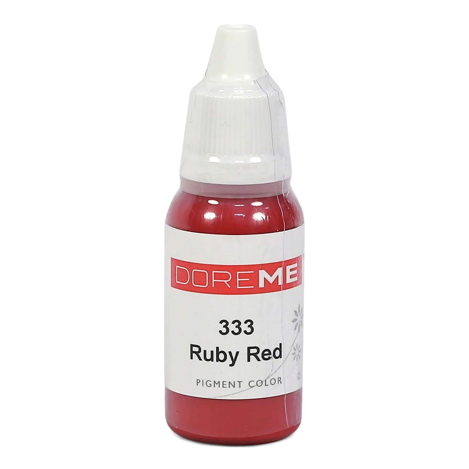 Permanent Makeup pigments Doreme Micropigmentation Eyebrow, Eyeliner, Lip Colours 333 Ruby Red (c) - Beautiful Ink UK trade and wholesale supplier