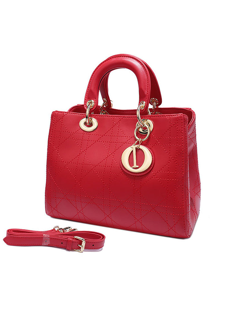 Genuine leather cannage stitched tote bag (more colours)