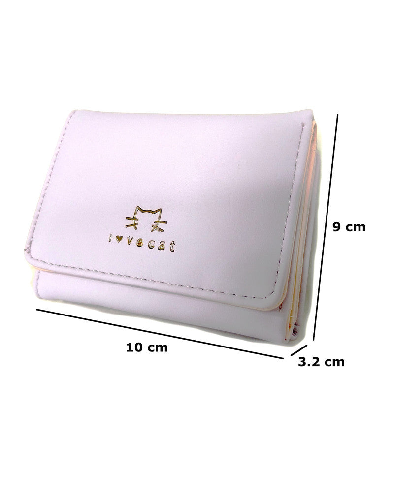 3-fold PU leather wallet with gold-embossed animal print (more colours)