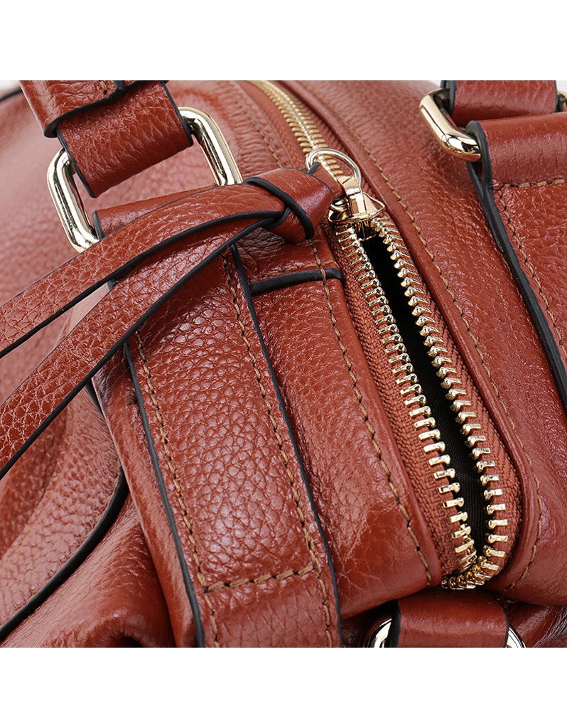 Genuine leather bowler bag (more colours)