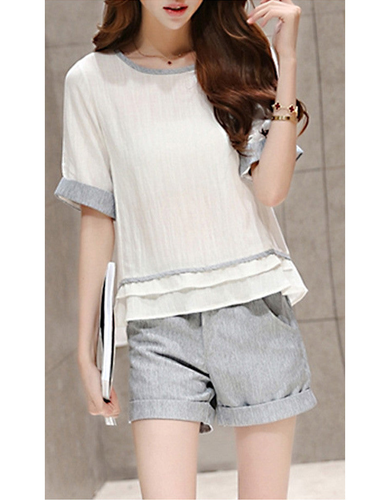 Short sleeve top with shorts (More colours)