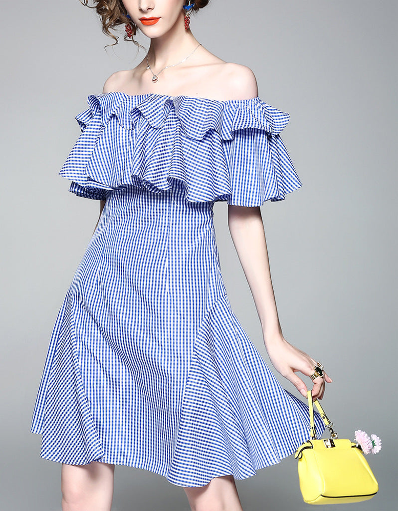 Off shoulder dress with ruffles
