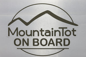 MountainTot on Board Decal