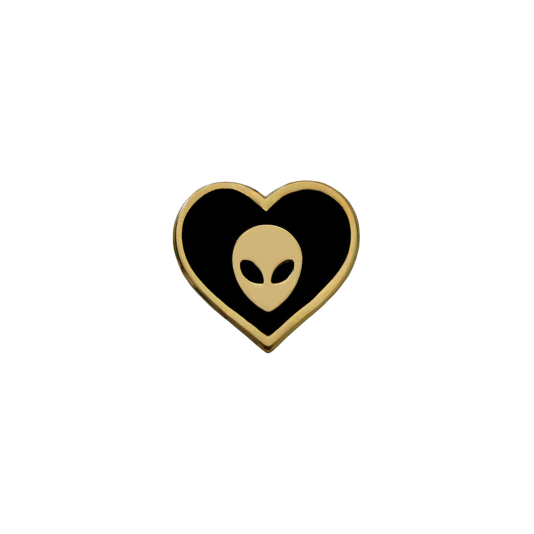 Alien Heart Pin