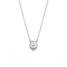 Load image into Gallery viewer, Deco Solitaire Necklace - White