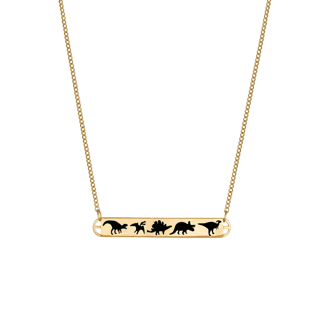 Dinosaur Trail Necklace