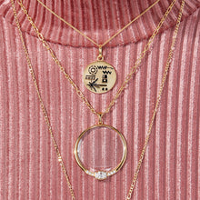 Load image into Gallery viewer, Golden Record Necklace