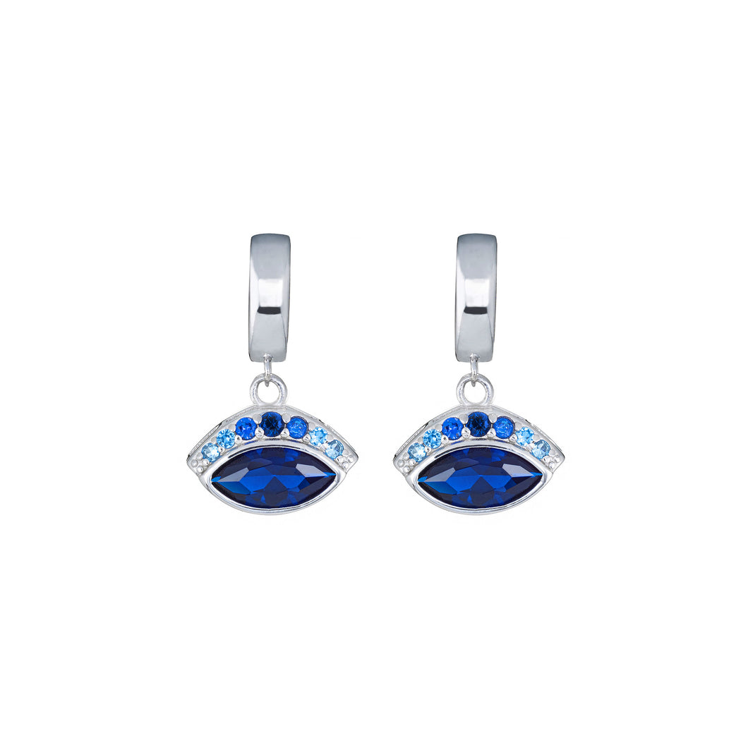 Iris Earrings - Blue