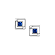Load image into Gallery viewer, Maze Studs - Blue