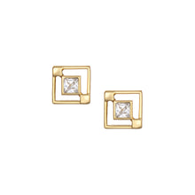 Load image into Gallery viewer, Maze Studs - White
