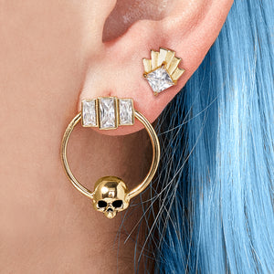 Trinity Skull Earrings