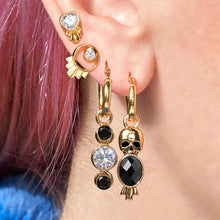 Load image into Gallery viewer, Deco Skull Earrings