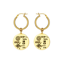 Load image into Gallery viewer, Golden Record Earrings