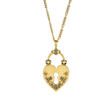 Load image into Gallery viewer, Heart Lock Necklace