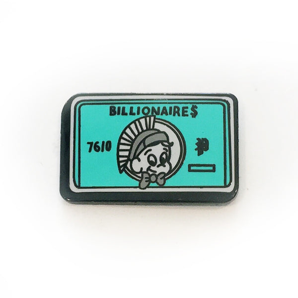 The Billionaires Card in Light Green