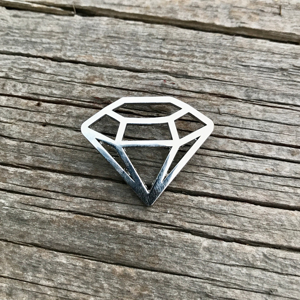 The Die Cut Diamond in Silver
