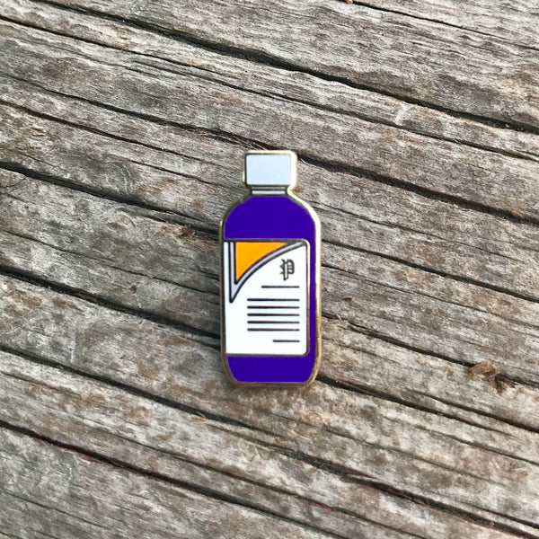 The Cough Syrup in Purple