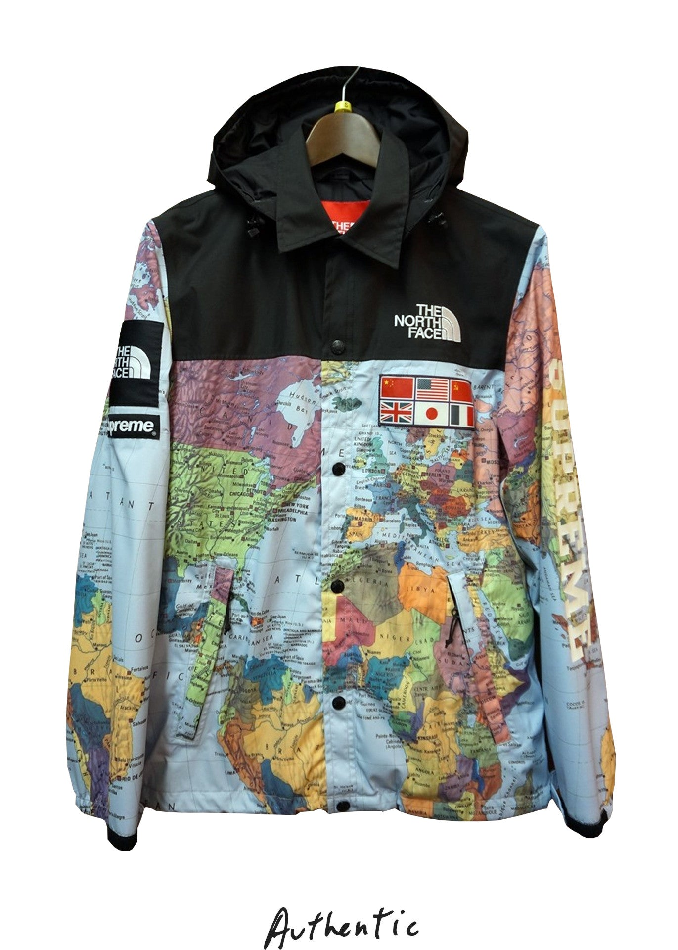 The north face x supreme world map jacket gumiabroncs Gallery