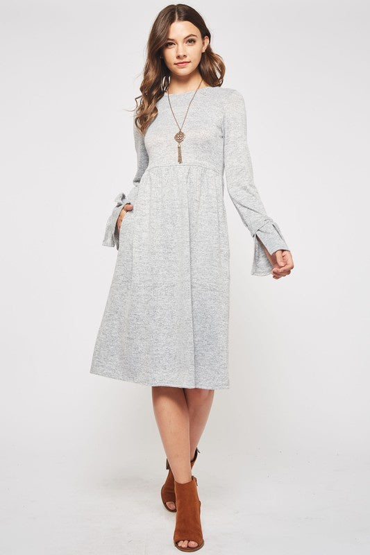 Bows & Bells Midi in Gray