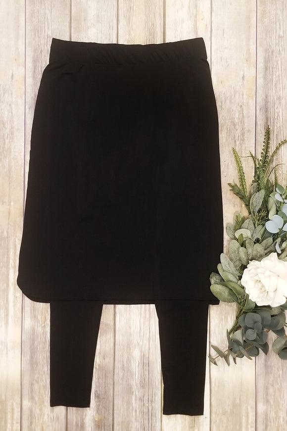 Black Athletic/Swim Skirt