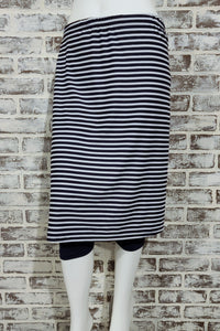 Navy Striped Athletic Skirt