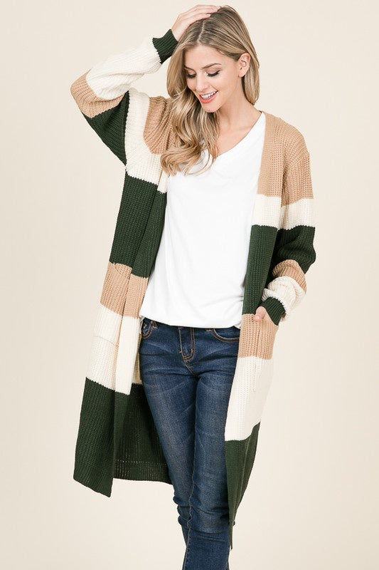 Chunky Colorblock Cardigan