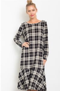 Plaid Midi Dress (2 Color Options)