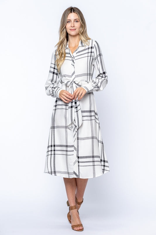 Joy in Plaid Midi