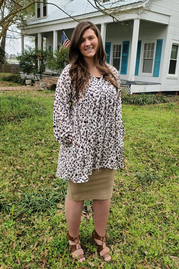 White Leopard Tunic