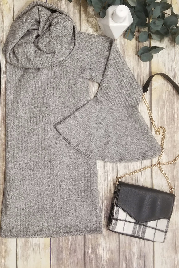 Cowl Neck Top in Gray