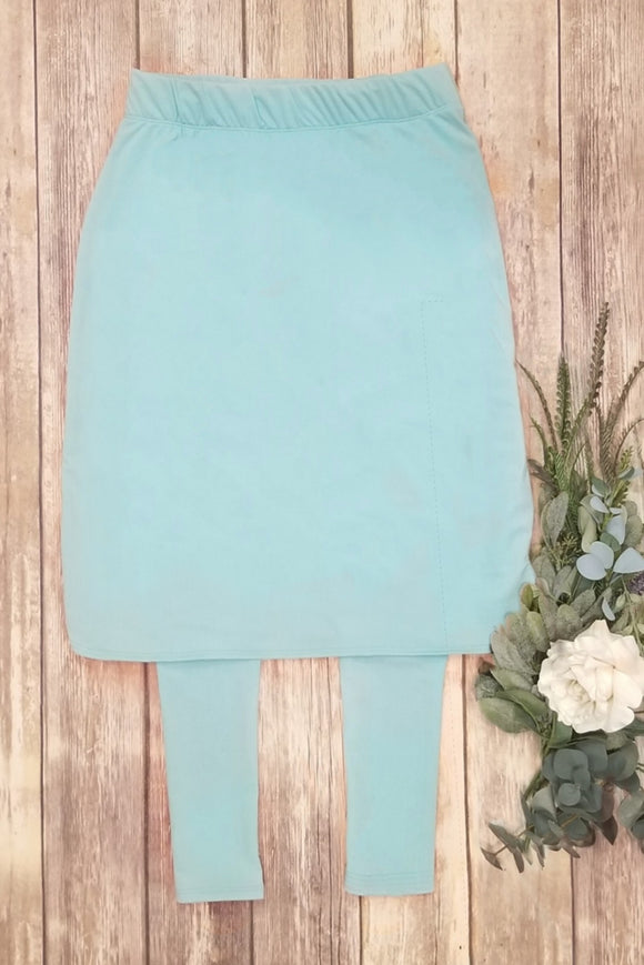 Turquoise Athletic/Swim Skirt