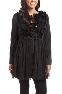 Dainty & Delicate Coat- Black