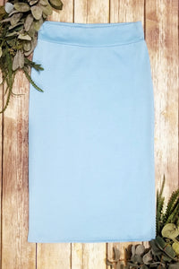 Baby Blue Pencil Skirt