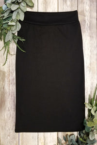 Plus Black Pencil Skirt