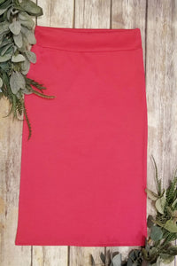 Fuchsia Pencil Skirt
