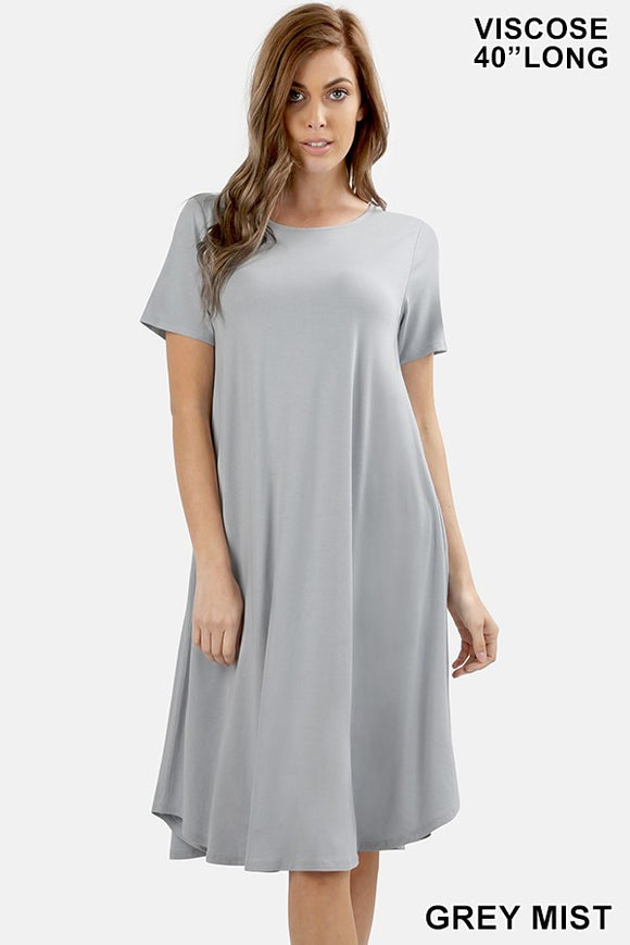 Sway & Swing Dress in Gray Mist