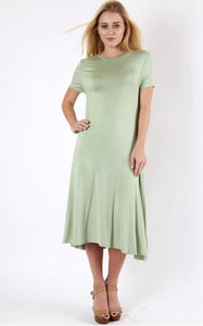 Brianna In Moss Green - - Slim Dress