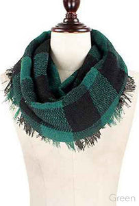 Green Infinity Blanket Scarf