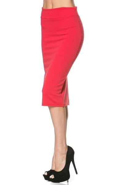 Coral Pencil Skirt - - Slim Skirt