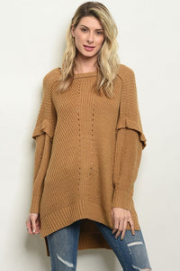 Camel Oversized Sweater