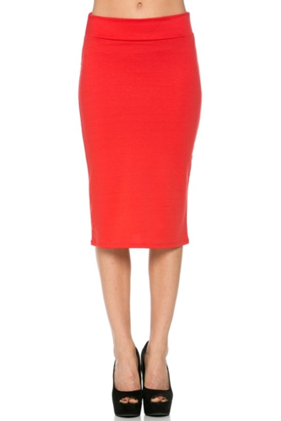 Salmon Pencil Skirt