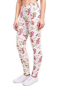Floral Leggings - - Knit