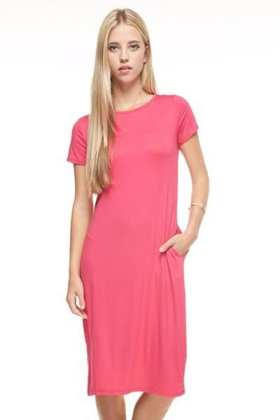 Kaitlyn In Hot Pink - - Slim Dress
