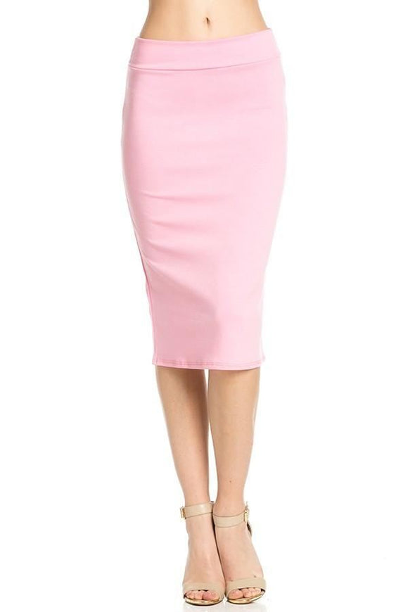 Pink Pencil Skirt - - Slim Skirt